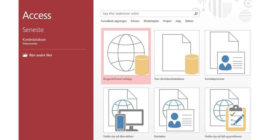 2019s version af Access UI