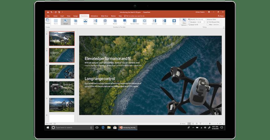 Det nye interface til PowerPoint
