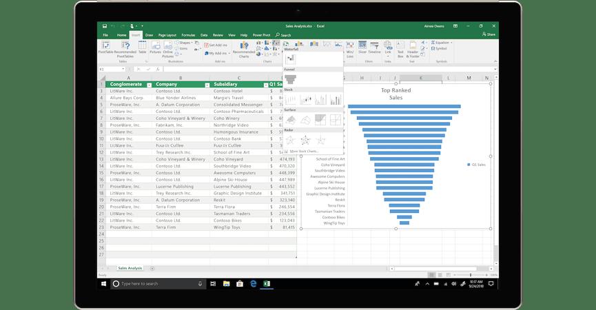 Det nye interface og nye enskaber i Excel