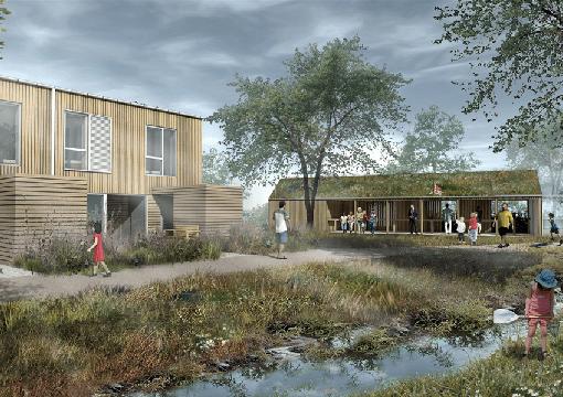 En ejendom som Civica har fået 3D fremstillet så man kan se hvordan de ønsker ejendommen kommer til at se ud.